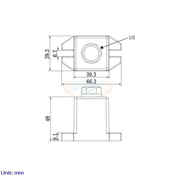 獨立端子電木座 CB8-T40-C1