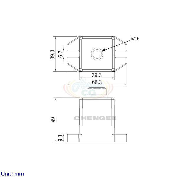 獨立端子電木座 CB8-T40-C2