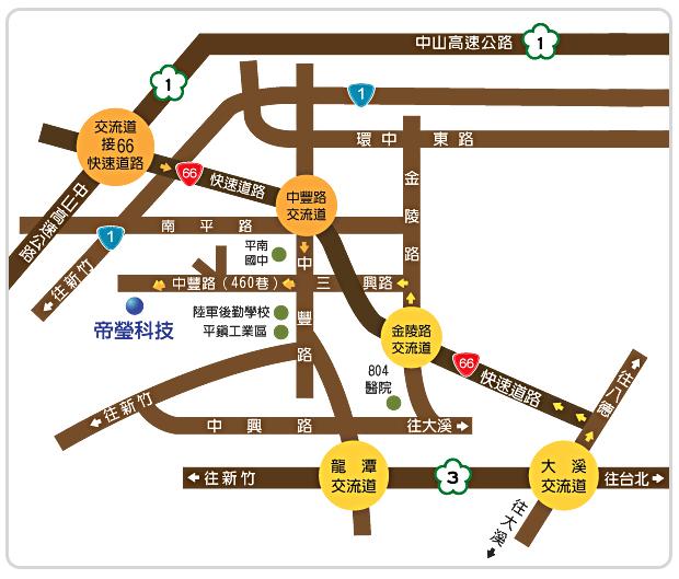 帝瑩科技交通指引